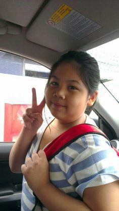 My sweetheart off to school <3