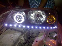 Hyundai Elantra customize made Headlights with projector, angel eye and Led