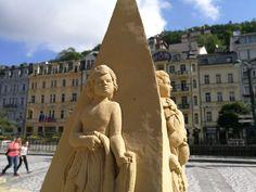 Karlovy Vary, socha z písku (sculpture of sand) - 9.8.2017