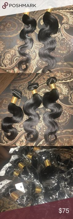 Brazilian Body Wave Weave I sell bundles of Brazilian body wave weave the starts from the length of 8-18 inches. Bundles are thick, full, true to length, no smell, and 100% human hair and each bundle is 100 grams. Hair can also be bleach and dyed. SOLD SEPARATELY👸🏽 NOW SELLING STRAIGHT MALAYSIAN Brazillian  Other