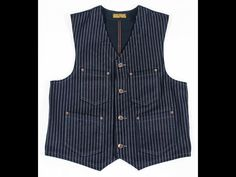 Constructed of a Wabash face with navy cotton duck back. Includes felled seams throughout and dull copper rivets and matching buttons. Mens Party Wear, Hunting Vest, Men's Style, Vests, Work Wear, Menswear, Mens Fashion, Denim, Clothing