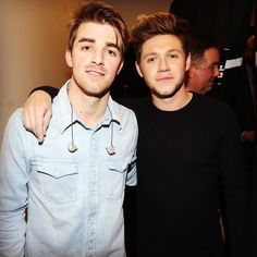 Niall with Drew from The Chainsmokers at the NYC Jingle Ball