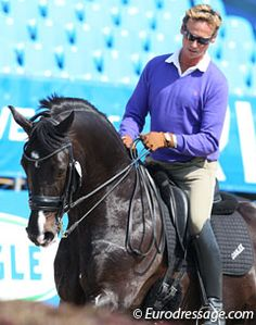 Carl Hester schooling dressage horse Uthopia - one day, i'll have a gorgeous dressage horse, one day!