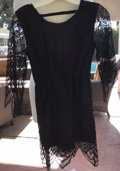 6d6d6018672 Nectar Black Lace Romper Sleeves Size Small Dressy Fancy Date Night