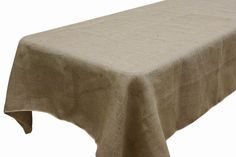 Looking to go full burlap for your shabby-chic wedding? Our 60 by 126 inch rectangle Rustic Burlap Tablecloth will most certainly set the theme for your special day! Wholesale Tablecloths, Tablecloths For Sale, Wholesale Linens, Tablecloth Rental, Burlap Tablecloth, Burlap Runners, Banquet Tables, Reception Table, Rosario