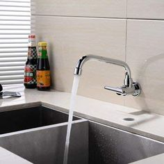 Wall Mounted Kitchen Faucet Mixers Sink Tap Wall Kitchen Faucet Single Cold Water: Amazon.co.uk: DIY & Tools Wall Taps, Sink Taps, Faucet, Mixers, Diy Tools, Wall Mount, Cold, Amazon, Water