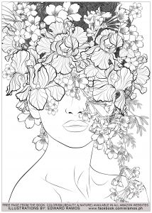 Beauty and nature edward ramos 7 - Zen and Anti stress Coloring Pages for Adults - Just Color Detailed Coloring Pages, Free Adult Coloring Pages, Colouring Pages For Adults, Coloring Pages Nature, Anti Stress Coloring Book, Line Art, Coloring Books, Kids Coloring, Watercolor Art