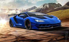 Blue Lamborghini, Ferrari 458, Lamborghini Centenario, Classy Cars, Hot Rides, Audi Tt, Toys For Boys, Exotic Cars, Concept Cars