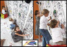 Tapeta komiks!  Kolorowanie własnej ściany w pokoju to jest TO! :)