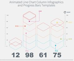 Animated Line Chart Column Infographics Preview - CodeCanyon