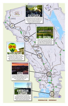 The Napa Valley is comprised of many small communities, each with its own unique identity that invites meandering exploration. Come explore Napa Valley!