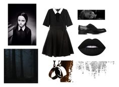 """""""Wednesday Addams"""" by lucy3107 ❤ liked on Polyvore featuring Church's, The Kooples, Kenzo and addamsfamily"""