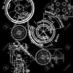 Technical drawing on black background royalty free cliparts vectors technical drawing on black background royalty free cliparts vectors and stock illustration image 9511273 graphic pinterest black backgrounds malvernweather Gallery