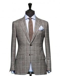Tailored 2-Piece Suit - Fabric 4303 Check Grey
