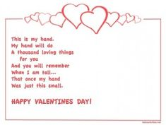 Free Printable Valentines Day Craft with Poem by Kidz Activities