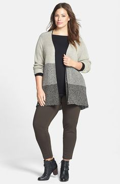 Free shipping and returns on Eileen Fisher Cardigan, Top & Slim Pants (Plus Size) at Nordstrom.com.