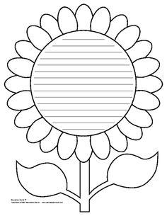 Education World: Flower Shapebook (Lined) Template