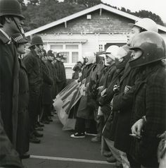 Ans Westra Anti-Springbok Tour Demonstration, Newtown, Wellington, 1981 Silver Gelatin Print 190 x 190 mm