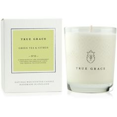 Scented candle green tea lime