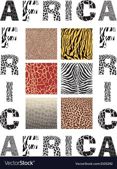 Africa background with text and texture wild vector image on VectorStock Web Design, Graphic Design, Adobe Illustrator, Camouflage, Vector Free, African, Pdf, Texture, Animal