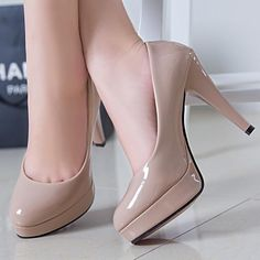 New Women Sexy High Heels Leather With Single Shallow Mouth Sexy High Heels, Frauen In High Heels, Leather High Heels, Platform High Heels, Lace Up Heels, Womens High Heels, Patent Leather, Stilettos, Pumps Heels