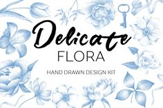 Delicate flora-exclusive design kit by beauty drops on @creativemarket