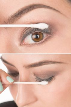 How to Get Faux-Looking Lashes Using Baby Powder - Baby Powder Mascara Trick - Elle 1-2 coats of mascara from roots to tips. Dip a Q-tip into baby powder. Dust tops and bottoms. Apply another coat of mascara.