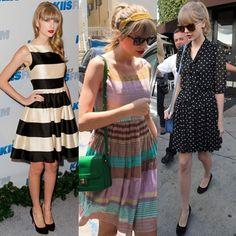 O Estilo retrô e Vintage da Taylor Swift! | Ela é Criativa.com