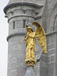 Angel on cathedral in Cork, Ireland