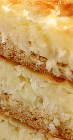 Coconut Cheesecake Bars recipe - the best coconut cheesecake bars I have ever had! Creamy, sweet, perfect amount of coconut in every bite, no crumbly crust - these cheesecake bars are one of the best I've ever made. 13 Desserts, Coconut Desserts, Cookie Desserts, Cookie Recipes, Delicious Desserts, Dessert Recipes, Bar Recipes, Coconut Cookies, Recipies