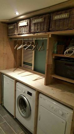 Cheap and Easy DIY Rustic Home Decor Ideas Diy cheap and easy ideas. Laundry room with wooden details. Love your home and be creative.Diy cheap and easy ideas. Laundry room with wooden details. Love your home and be creative. Rustic Laundry Rooms, Laundry Room Design, Pallet Laundry Room Ideas, Easy Home Decor, Cheap Home Decor, Rustic Decor, Farmhouse Decor, Modern Decor, Rustic Chic