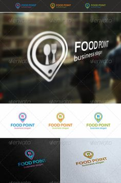 Food Point Locator Logo — Vector EPS #gastronomy #spoon • Available here →…
