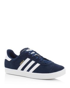 adidas Originals Gazelle Lace Up Sneakers  | Suede upper, mesh lining, rubber sole | Imported | Fits true to size, order your normal size   | OrthoLite sockliner provides breathable cushioning and lim