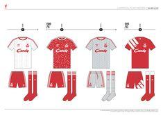 Liverpool FC Kit History, from 1892 to 2020 on Behance Liverpool Kit History, Liverpool Fc Kit, Classic Football Shirts, Behance, Logo, Logos, Environmental Print