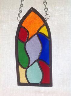 Little Gothic window 2.  Find me on Facebook at www.facebook.com/stainedglassgiftshop