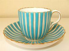 Antique 1850 60 Minton Porcelain Demitasse Cup Saucer Pattern A7221