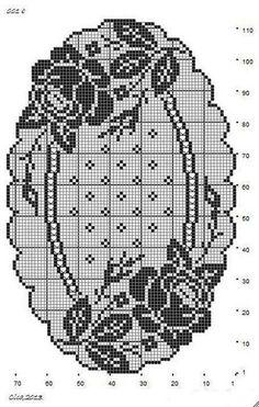 Craft & Patterns - Popular Craft & Patterns for Everyone Filethäkeln Tischläufer Rosen - filet crochet tablerunner roses - Gallery. Filet Crochet Charts, Crochet Cross, Crochet Art, Crochet Home, Thread Crochet, Crochet Stitches, Free Crochet, Crochet Dollies, Crochet Doily Patterns