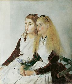 Credit: Belvedere, Vienna. Donated by Dr Imre von Satzger Anton Romako (1832-1889), The Artist's Nieces, Elisabeth and Maja, 1873