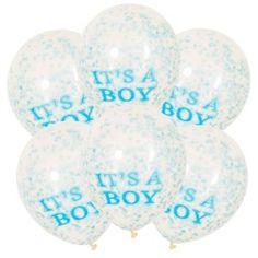 ITS A BOY CONFETTI BALLOON SET-ONE STOP KIDS PARTY SHOP