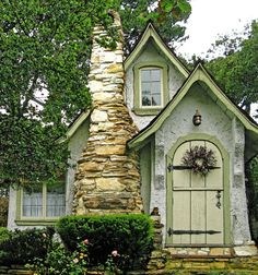 pink, white and green grandma fairy cottages - Google Search