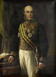 Portret van James Loudon (1824-1900). Gouverneur-generaal (1871-75).  Onderdeel van een reeks van portretten van de gouverneurs-generaal van het voormalige Nederlands Oost-Indië. 1871-1885