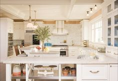Modern traditional white kitchen
