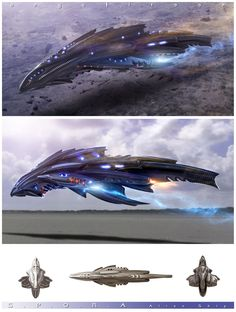 Concept ship art by Angel Alonso. Awesome.