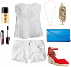 Class to Night Out: White Denim Shorts