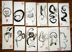 Zen Brush - Chinese New Years Zodiac Complete Set - All 12 Animals of the Zodiac