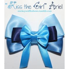 Kiss the Girl Ariel Hair Bow ($8) ❤ liked on Polyvore featuring bows and hair bow
