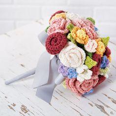 crochet flowers, pattern, wedding bouquets, crocheted flowers, crochet bouquet, flower power, floral bouquets, flower tutorial
