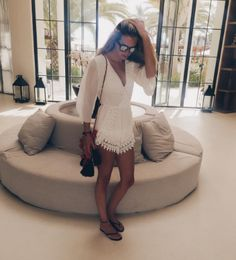 """Roos looks stunning in our """"Heavenly White Playsuit"""" - what a gorgeous photo! XOXO"""