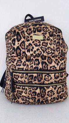 NWT STEVE MADDEN Backpack Leopard Women's Amazing Bag DR112045 MSRP: $88.00 #SteveMadden #Backpack #ebay #SteveMadden #Backpack