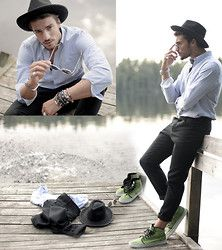 Rick Owens Trousers, Vans, Borsalino Hat - High Hopes (www.mdvstyle.com) - Mariano Di Vaio